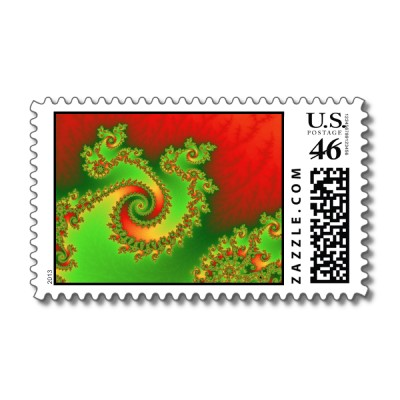 Christmas Triple Twirl Postage Stamp