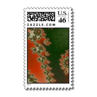 Pimento Olive Lines Postage Stamp