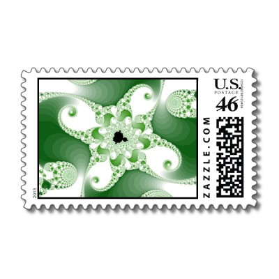 Twisted Cupric Octopuses Postage Stamp