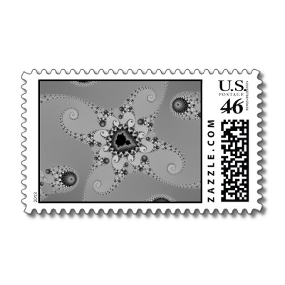 Grey Octopuses Postage Stamp