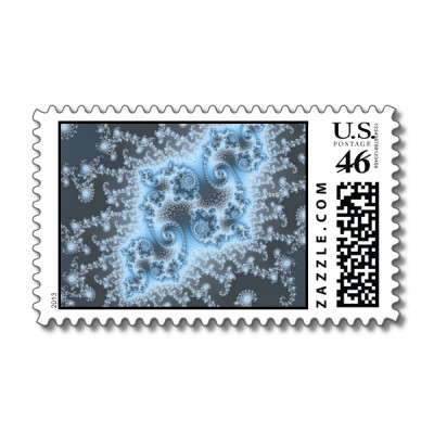 Blue Jellyfish Postage Stamp