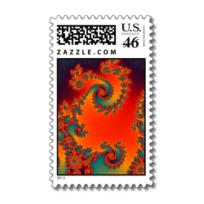 Circus Double Spiral Postage Stamp