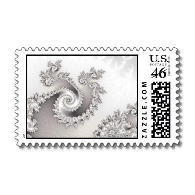 Silver Triple Twirl Postage Stamp