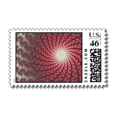 Smooth Red Whirlpool 2 Postage Stamp