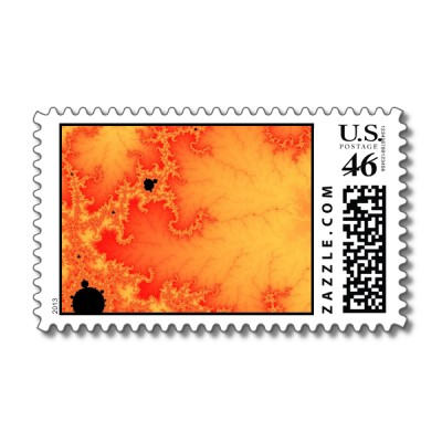Coal Fire Postage Stamp