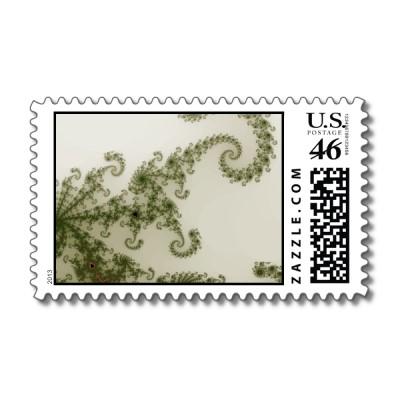Olive Smoke Postage Stamp