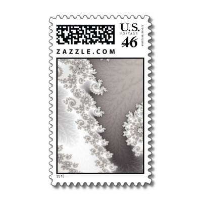 Silver Lines Postage Stamp