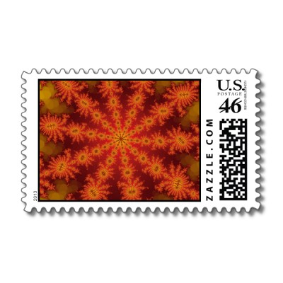 Red Orange Decasteer Postage Stamp