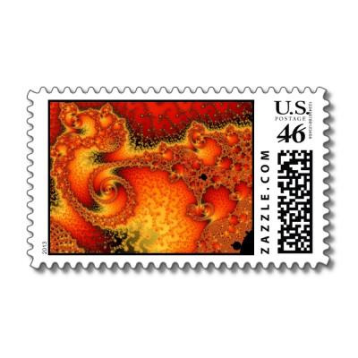 Red Hot Firepit Postage Stamp
