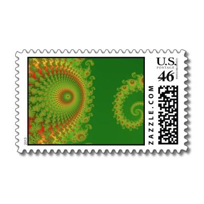 Christmas Spirole Postage Stamp