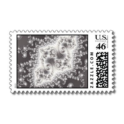 Silver Jellyfish Postage Stamp