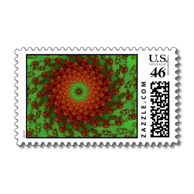 Poinsettia Postage Stamp