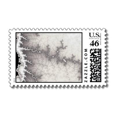 Silver Fault Line Postage Stamp