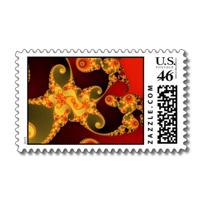 Fiery Tentacles Postage Stamp
