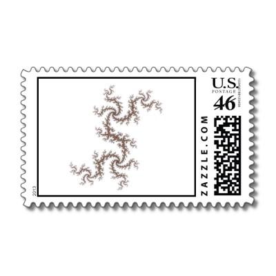 Apricot Twists Julia Postage Stamp