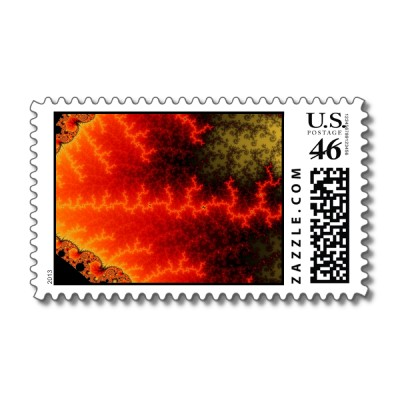 Flame Zigzag Postage Stamp