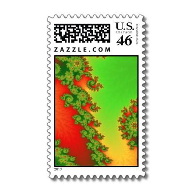 Christmas Lines Postage Stamp
