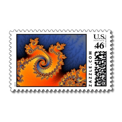 Hot Cold Triple Twirl Postage Stamp
