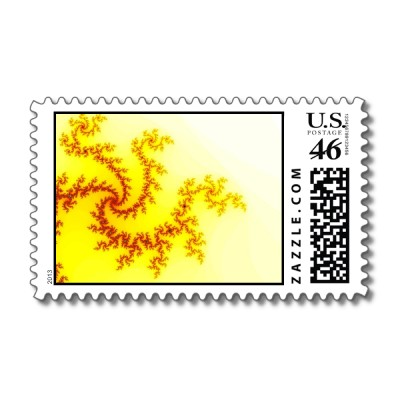 Yellow Dragon Postage Stamp