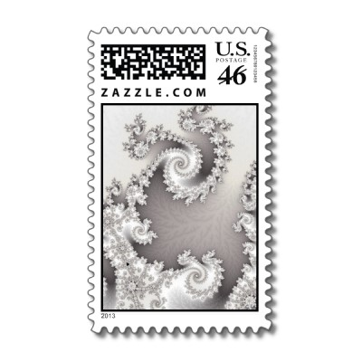 Silver Double Spiral Postage Stamp