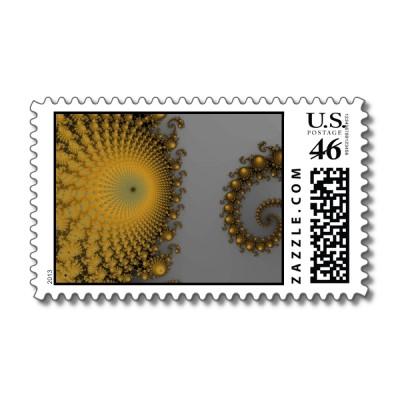 Pumpkin Spirole Postage Stamp