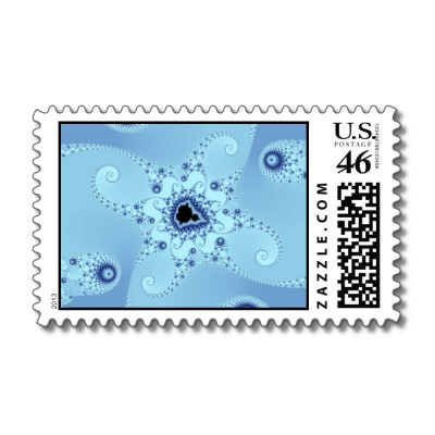 Blue Octopuses Postage Stamp