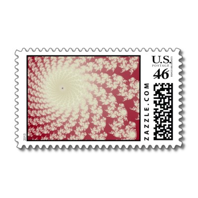 Smooth Red Whirlpool Postage Stamp