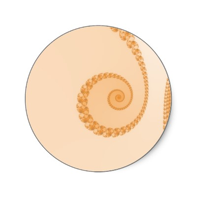 Gold Simple Spiral Sticker
