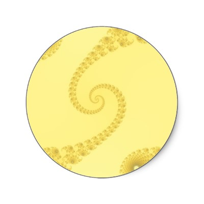 Yellow Gold Double Spiral Sticker