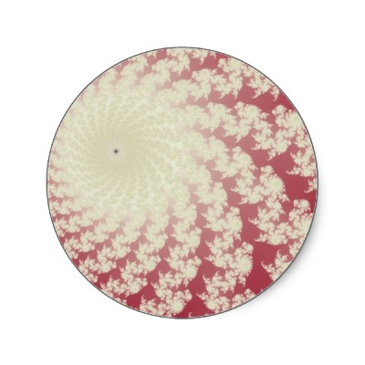 Smooth Red Whirlpool Sticker