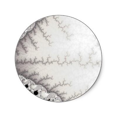 Silver Zigzag Sticker