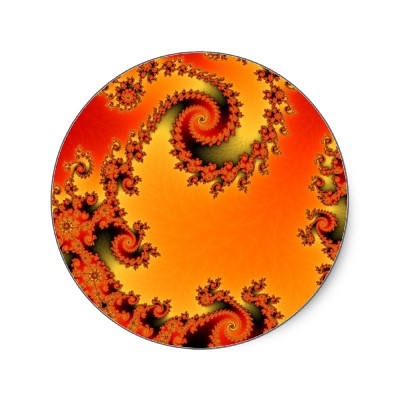 Flaming Hot Double Spiral Sticker