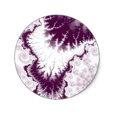 Plum Feathered Star Sticker
