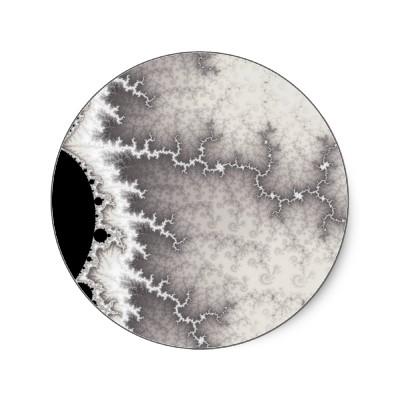 Silver Fault Line Sticker