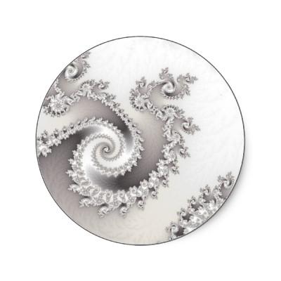Silver Triple Twirl Sticker