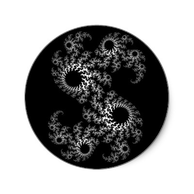 Black White Julia 324048 Sticker