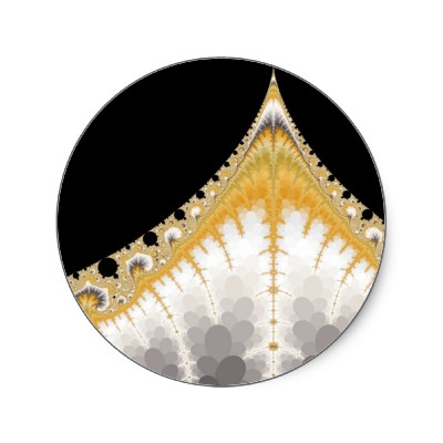Silver and Gold Volcano Sticker