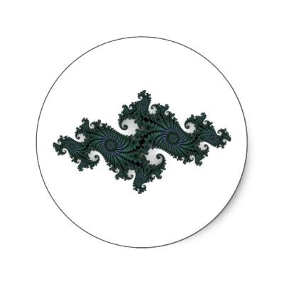 Emerald Seahorse Julia Sticker