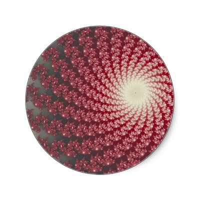 Smooth Red Whirlpool 2 Sticker