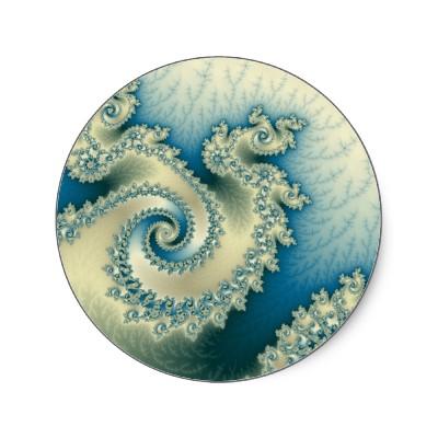 Seaside Triple Twirl Sticker