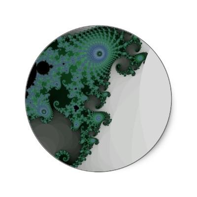 Emerald Seahorse Sticker