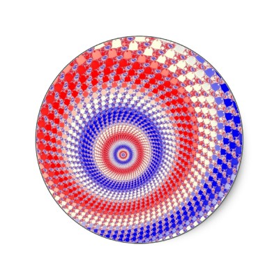 Tricolour Roundalls Sticker