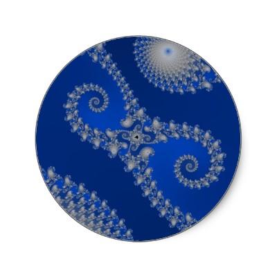 Silver Seahorse Sticker