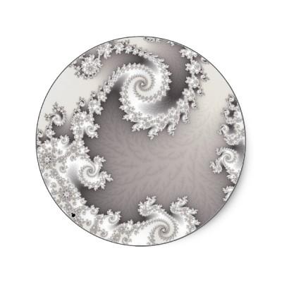 Silver Double Spiral Sticker