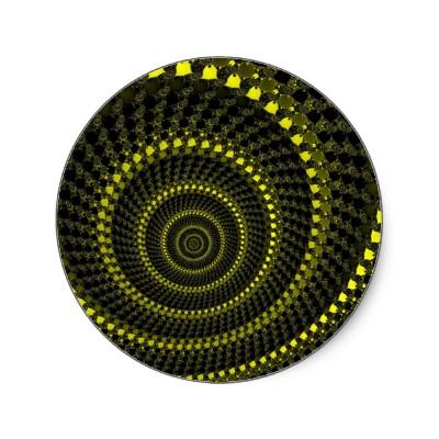 Yellow Circles Sticker