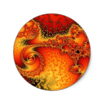 Red Hot Firepit Sticker