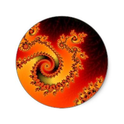 Flame Triple Twirl Sticker