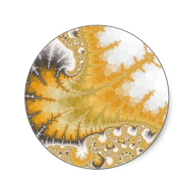Gold Stingray Sticker