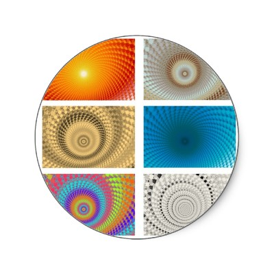 Tableau of Circles Sticker