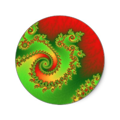 Christmas Triple Twirl Sticker